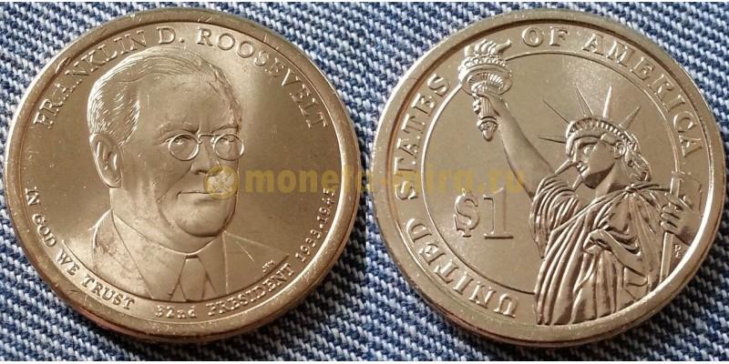 1 доллар США серия: Президенты - Франклин Рузвельт