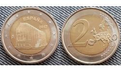 2 евро Испания 2017 - церковь Санта-Мария дель Наранко в Овьедо