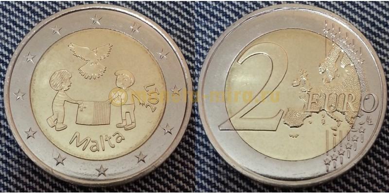 2 евро Мальты 2017 г. Мир детям