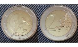 2 евро Финляндия 2017 - Финская природа, ворон на дереве