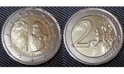 2 евро Люксембург 2017 - 200 лет со дня рождения Виллема III