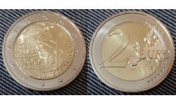 2 евро Австрии 2018 г. 100 лет Австрийской республике