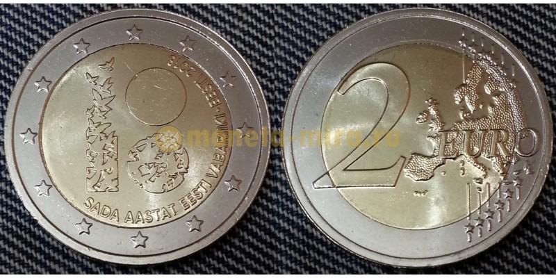 2 евро Эстонии 2018 г.- 100 лет Эстонской республики