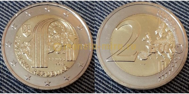 2 евро Словакия 2018 - 25 лет Словацкой республике