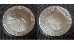 1 доллар Австралии 2018 г. Кенгуру, серебро 999 пр.