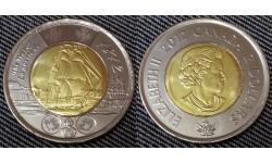 2 доллара Канады 2012 г. Фрегат Шеннон 1812 год
