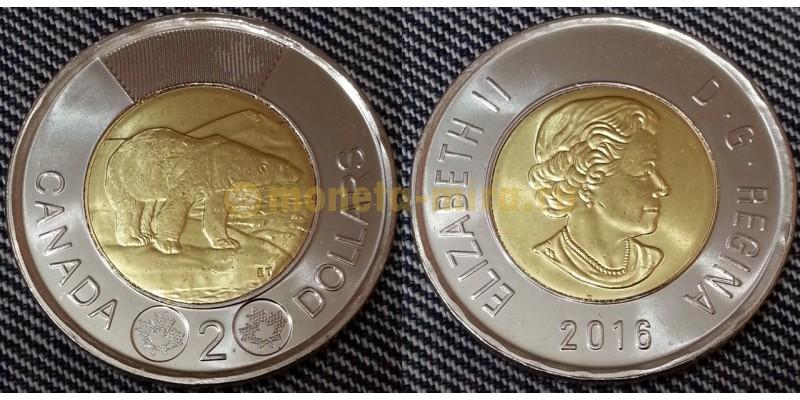 2 доллара Канады 2016 г. Полярный медведь