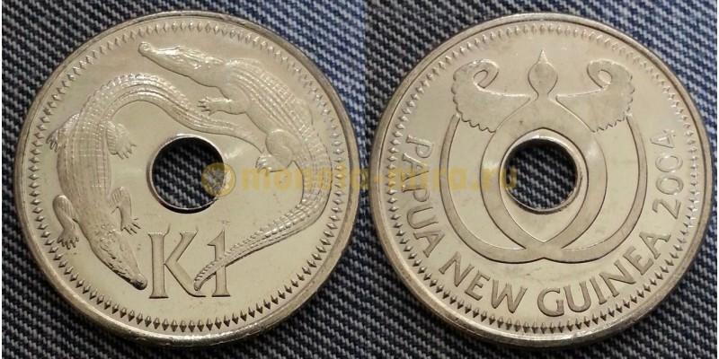 Монета Папуа Новая Гвинея 1 кина 2004 год